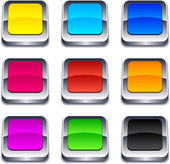 Square 3d buttons. — Stock Vector