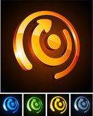 Emblemas vibrante color. — Vector de stock