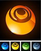 Color vibrant emblems. — Stock Vector