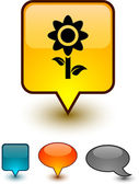 Iconos comic flor discurso. — Vector de stock