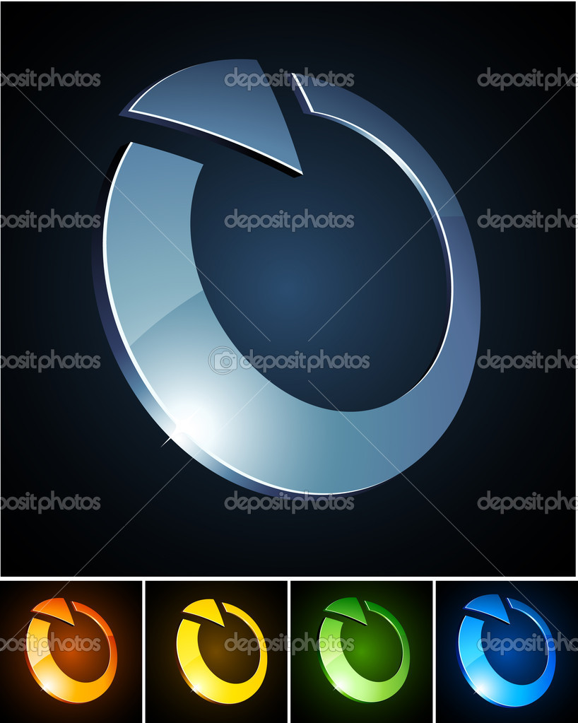 Vector illustration of shiny symbols.  — Stock Vector #4054992