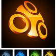 3d vibrant emblems. — Stock Vector