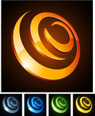 3d vibrant spirals. — Stock Vector