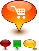 Kaufen rede komische symbole. — Stockvektor