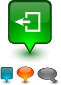 Exit speech comic icons. — Stock Vector