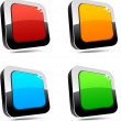 Stock Vector: Rectangular 3d buttons.