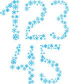 12345 字母. — 图库矢量图片