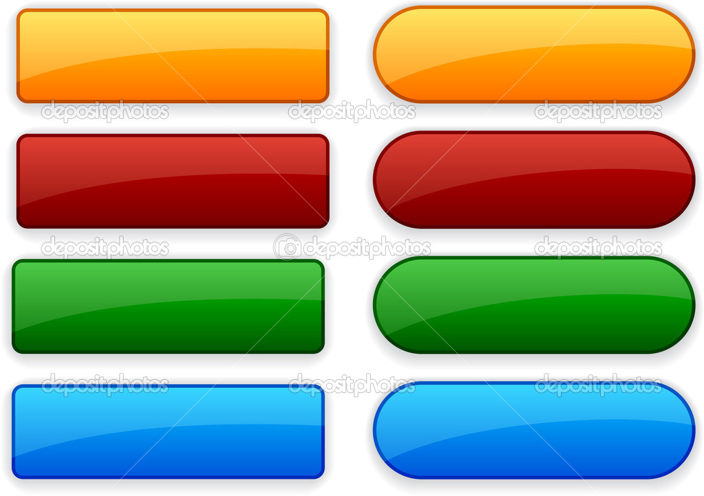 Blank web color buttons. Vector.  — Vettoriali Stock  #4138999