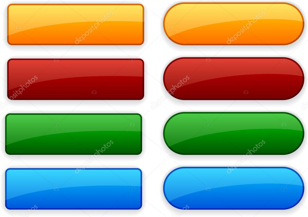 Blank web color buttons. Vector.  — ベクター素材ストック #4138999