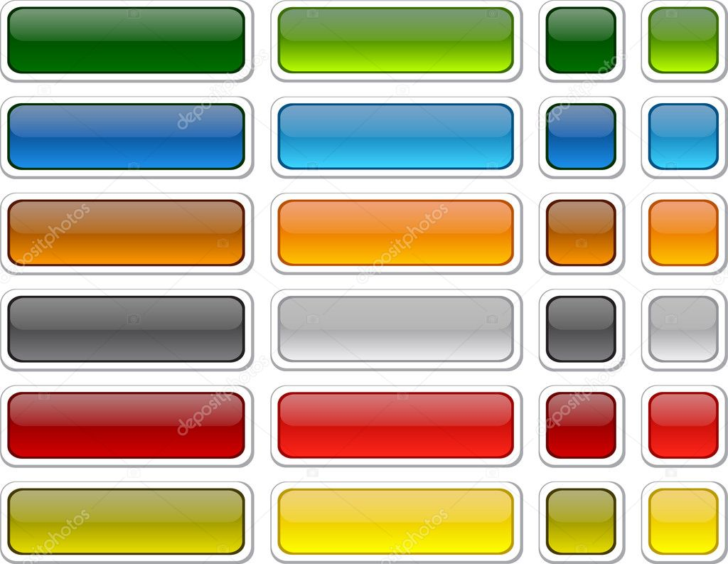 Blank web color buttons. Vector.   Stock Vector #4139001