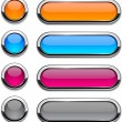 Vector rounded buttons on white. — Stock Vector