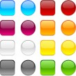 Stock Vector: Vector color buttons on white.