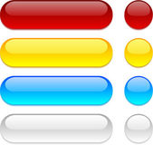 Rounded buttons on white background. — Stock Vector