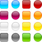 Vector color buttons on white. — Stock Vector