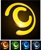 """C"" vibrant emblems. — Stock Vector"