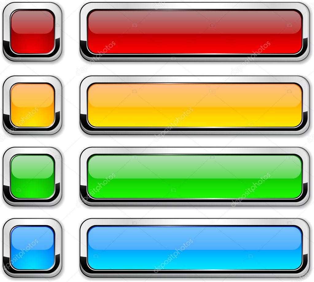 Vector rectangular buttons on white. — Stock Vector © Maxborovkov ...
