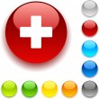 Royalty-Free Stock Vector Image: Switzerland  button.