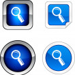 Searching  button set. — Stock Vector
