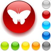 Przycisk motyl. — Wektor stockowy
