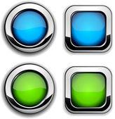 Site düğmeleri. — Stok Vektör