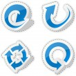 Royalty-Free Stock Vector Image: Arrow blue stickers.