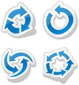 Arrow blue stickers. — Stok Vektör