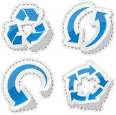 Arrow blue stickers. — Stock Vector