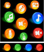 Media Icons. — Stock Vector