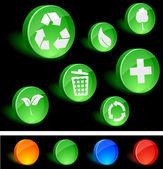 Символы экологии. — Cтоковый вектор