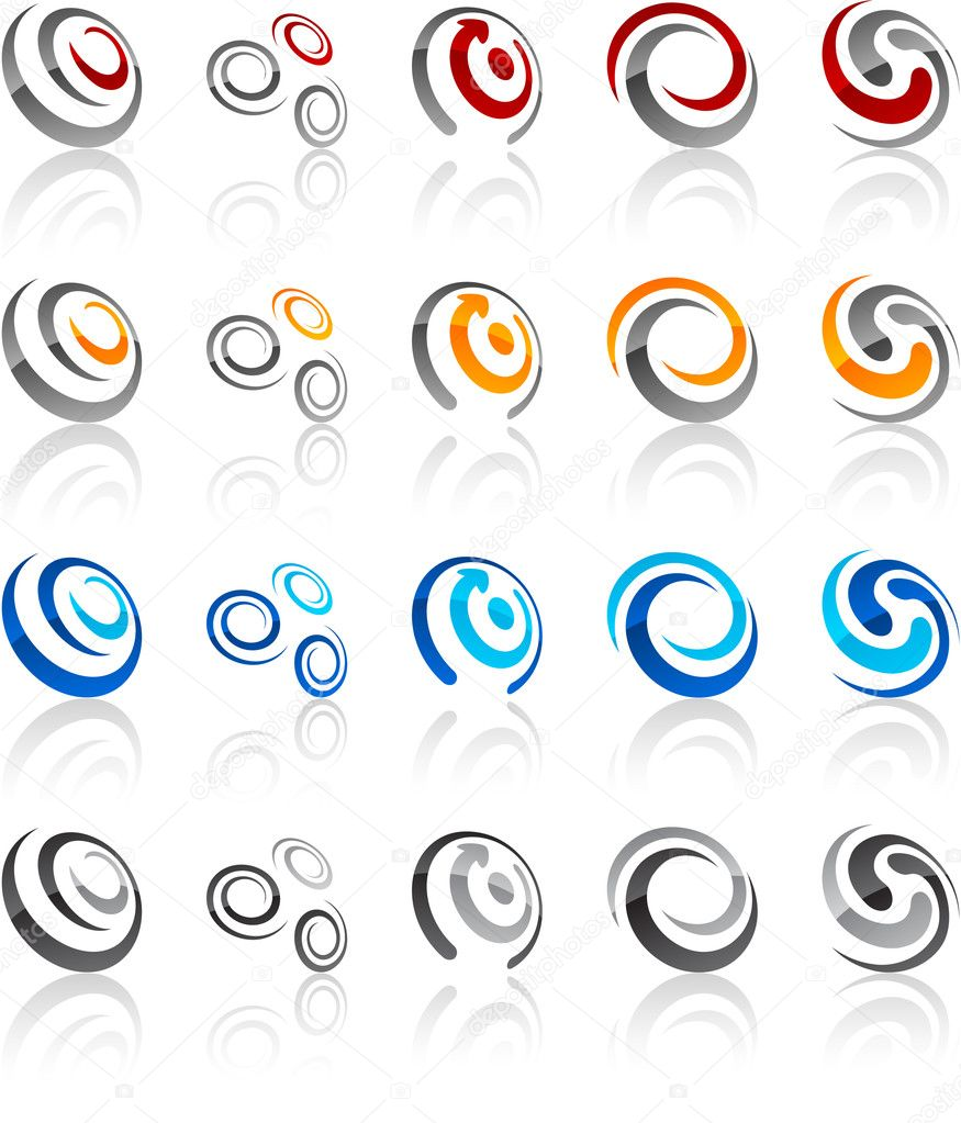 Vector illustration of swirl symbols. — Stock Vector #4995754
