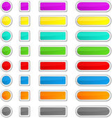 Web blank buttons. — Stock Vector