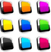 Rectangular 3d buttons. — Stock Vector