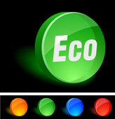 Eco Icon. — Stock Vector