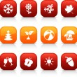 Seasons  buttons. — Stock Vector