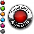 Special offer button. — Image vectorielle
