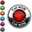 Royalty-Free Stock Vector Image: Call Now button.
