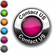 Contact us button. — Stock Vector