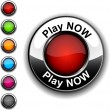Play now button. - Stock Vector