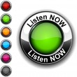 Listen now button. - Stockvectorbeeld