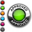 Stock Vector: Approved button.