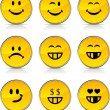Smiley icons. — Stock Vector #5025436
