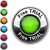Free trial button. — Stock Vector