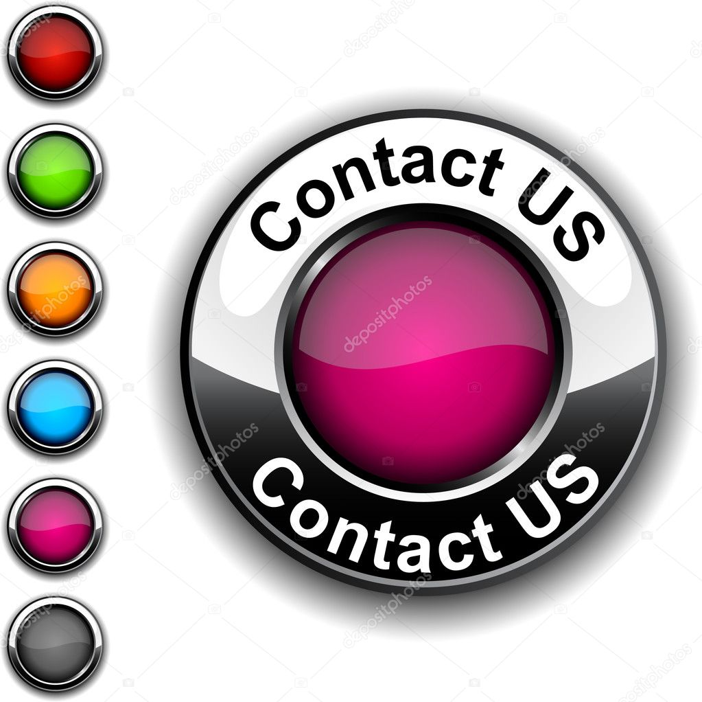 .Contact us realistic button. Vector.  . — Stock Vector #5025327