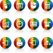 Stock Vector: Office buttons.