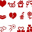 Love icon set. — Stock Vector