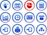 Office buttons. — Stock Vector