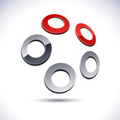 Abstract 3d rings icon. — Stock Vector