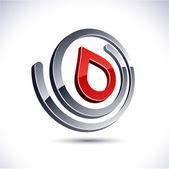Abstract 3d drop icon. — Stock Vector