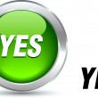 Yes  button. - Stock Vector