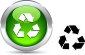 Recycle knop. — Stockvector